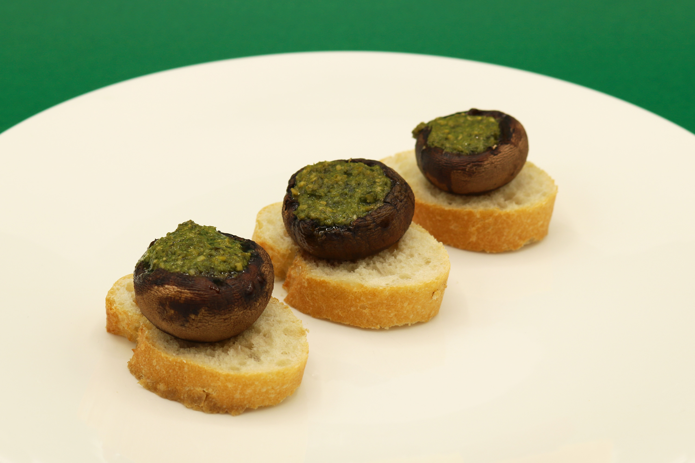 pesto_tosta_champiñon_canape_receta_sana_original_facil_vegetariano